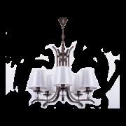 Люстра BENETTI Decente Modesto коричневый/белый, 5хE14, коллекция CLS-006