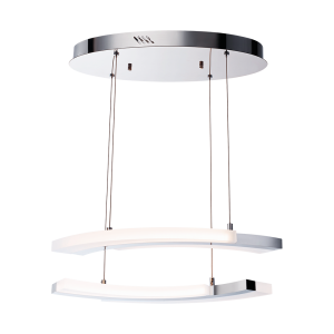 Светодиодный светильник BENETTI LED Geometria хром, 40Вт 3000K, 2640 Lm, коллекция LED-010