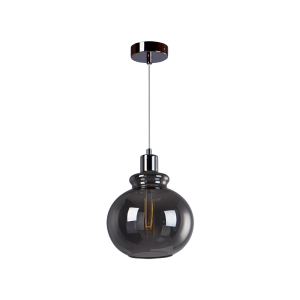 Cветильник BENETTI Modern Fusione подвесной серый/дымчатый, 1xE27, коллекция MOD-020