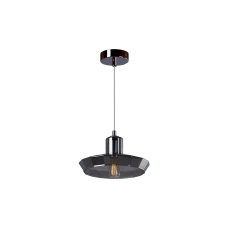 Cветильник BENETTI Modern Fusione подвесной серый/дымчатый, 1xE27, коллекция MOD-025