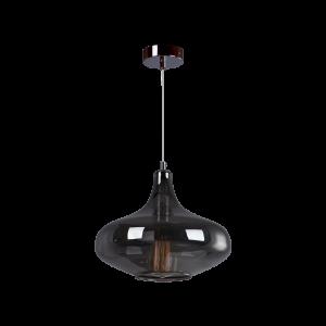 Cветильник BENETTI Modern Fusione подвесной серый/дымчатый, 1xE27, коллекция MOD-026