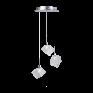 Cветильник BENETTI Modern Kubo подвесной хром, 3хG9, коллекция MOD-031