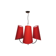 Люстра BENETTI Modern Bizzarro черный/красный, 3хE27, коллекция MOD-406