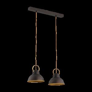 Светильник BENETTI Modern Loft темный венге/золото, 2xE27, коллекция MOD-411