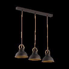 Светильник BENETTI Modern Loft темный венге/золото, 3xE27, коллекция MOD-411