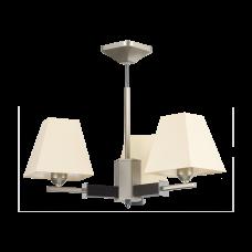 Люстра BENETTI Modern Piramidi никель/бежевый, 3xE27,  коллекция MOD-421
