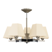 Люстра BENETTI Modern Piramidi никель/бежевый, 5xE27,  коллекция MOD-421