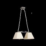 Люстра BENETTI Modern Piramidi никель/бежевый, 2xE27,  коллекция MOD-422
