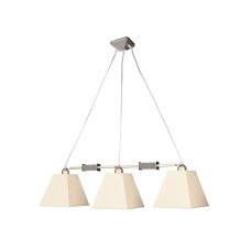 Люстра BENETTI Modern Piramidi никель/бежевый, 3xE27,  коллекция MOD-422