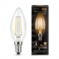 Лампа Gauss LED Filament Candle E14 9W 2700К 1/10/50