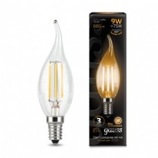 Лампа Gauss LED Filament Candle tailed E14 9W 2700K 1/10/50