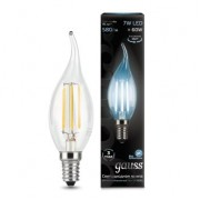 Лампа Gauss LED Filament Candle tailed E14 7W 4100К 1/10/50