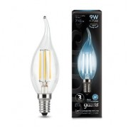 Лампа Gauss LED Filament Candle tailed E14 9W 4100K 1/10/50