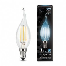 Лампа Gauss LED Filament Candle tailed E14 9W 4100K 1/10/50