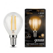 Лампа Gauss LED Filament Globe E14 7W 2700K 1/10/50