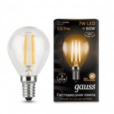 Лампа Gauss LED Filament Globe E14 7W 2700K 1/10/50