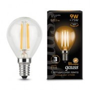 Лампа Gauss LED Filament Globe E14 9W 2700K 1/10/50