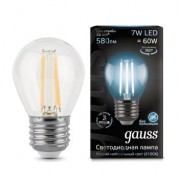 Лампа Gauss LED Filament Globe E27 7W 4100K 1/10/50