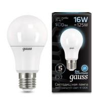 Лампа Gauss LED A60 16W E27 4100K 1/10/50