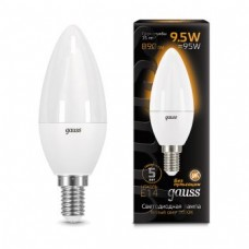Лампа Gauss LED Candle E14 9.5W 3000К 1/10/50