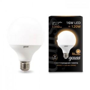 Лампа Gauss LED G95 E27 16W 3000K 1/32