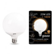 Лампа Gauss LED G125 E27 22W 3000K 1/24