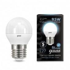 Лампа Gauss LED Globe E27 9.5W 4100K 1/10/50