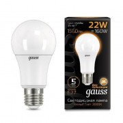 Лампа Gauss LED A70 22W E27 3000K 1/10/50