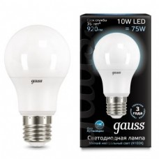 Лампа Gauss LED A60 10W E27 4100K 1/10/50