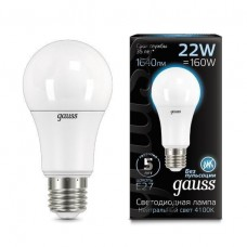 Лампа Gauss LED A70 22W E27 4100K 1/10/50