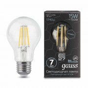 Лампа Gauss LED Filament Graphene A60 E27 15W 4100К 1/10/40