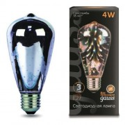 Лампа Gauss LED 3D-Butterfly E27 4W 1/10/40