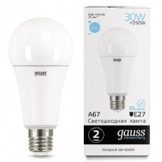 Лампа Gauss LED Elementary A67 30W E27 6500K 1/10/50