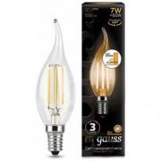 Лампа Gauss LED Filament Свеча на ветру E14 7W 550lm 2700K step dimmable 1/10/50