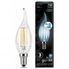 Лампа Gauss LED Filament Свеча на ветру E14 7W 580lm 4100K step dimmable 1/10/50