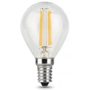 Лампа Gauss LED Filament Шар E14 7W 580lm 4100K step dimmable 1/10/50