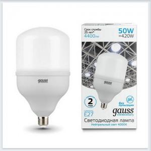 Лампа Gauss Elementary LED T140 E27 50W 4400lm 180-240V 4000K 1/8