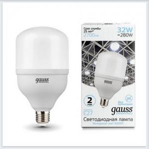 Лампа Gauss Elementary LED T100 E27 32W 2700lm 180-240V 6500K 1/20