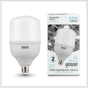 Лампа Gauss Elementary LED T120 E27 42W 3700lm 180-240V 6500K 1/12
