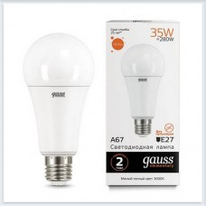 Лампа Gauss LED Elementary A67 35W E27 2670lm 3000K 1/10/50