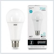 Лампа Gauss LED Elementary A67 35W E27 2740lm 4100K 1/10/50