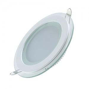 Светильник Gauss, круглый с декоративным стеклом,160х30, Ø118, 12W 3000K, 900лм 1/40
