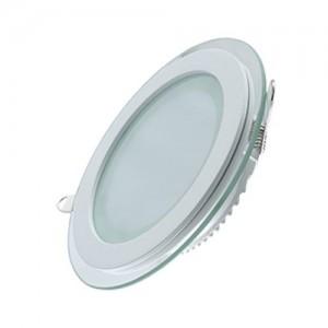 Светильник Gauss, круглый с декоративным стеклом, 200х30,Ø155, 18W 3000K 1390лм 1/20