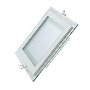 Светильник Gauss, квадратный с декоративным стеклом,160х160х30, Ø118x118  12W 3000K, 900 лм 1/40