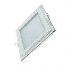 Светильник Gauss, квадратный с декоративным стеклом,200х200х30, Ø150х150, 18W 3000K, 1390лм 1/20