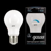 Лампа Gauss LED A60-dim E27 11W 4100К диммируемая 1/10/50