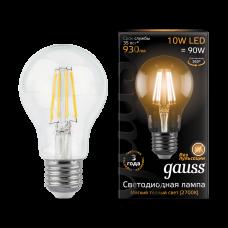 Лампа Gauss LED Filament A60 E27 10W 2700К 1/10/40