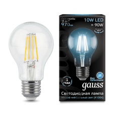 Лампа Gauss LED Filament A60 E27 10W 4100К 1/10/40