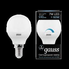 Лампа Gauss LED Globe-dim E14 7W 4100К диммируемая 1/10/100