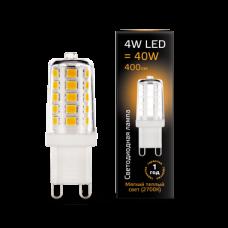 Лампа Gauss LED G9 AC185-265V 4W 2700K керамика 1/10/200